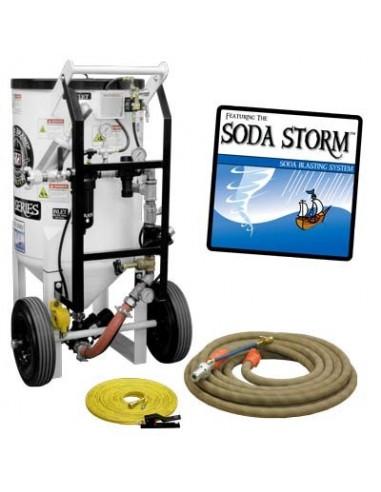 SODA BLASTING MACHINE 6.5 CU. FT. PRESSURE HOLD
