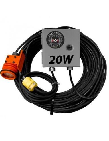 BLAST LIGHT COMPLETE, W/120VAC TO 12VDC CONVERTER, HALOGEN, 20W