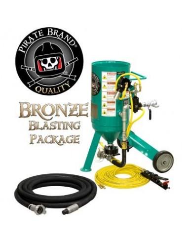 Abrasive Blast Pot / Sandblasting Machine Bronze Blasting Package