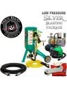 Abrasive Blast Pot / Sandblasting Machine, Silver Low-Pressure Blasting Package