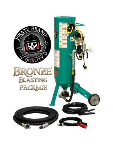 Abrasive Blast Pot / Sandblasting Machine, Electric, 1.0 Cu. ft. Bronze Basting Package