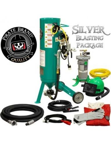 Abrasive Blast Pot / Sandblasting Machine, Electric 1.0 Cu. Ft. Silver Blasting Package