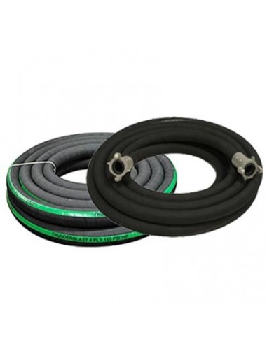 "1-1/4"" BLAST HOSE EXTENSION ASSEMBLY BIG GUN FULL FLOW W/ COUPLINGS (INCLUDES): (2) ALUMINUM FULL PORT QUICK COUPLERS"