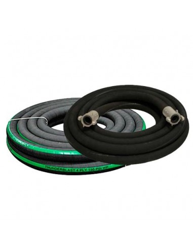 """1-1/2"""" BLAST HOSE EXTENSION ASSEMBLY BIG GUN FULL FLOW W/ COUPLINGS (INCLUDES): (2) ALUMINUM FULL PORT QUICK COUPLERS"""