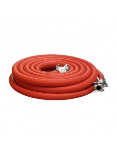 "1"" AIR HOSE ASSEMBLY (RED) W/COUPLINGS 50FT"