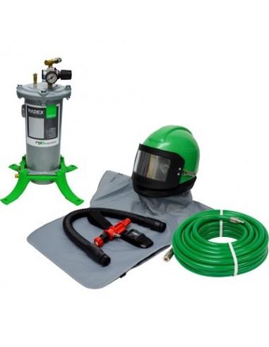 RESPIRATOR, RPB® NOVA 2000™ PACKAGE, INCLUDES 407000HT NOVA RESPIRATOR W/HOT TUBE & MEDIUM HEAD DOME & SIDEWINGS