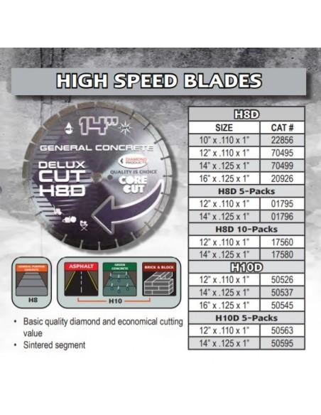 "Diamond Blade, 14"" x .125 x 1""- .400"" Diamond Depth-Shop"