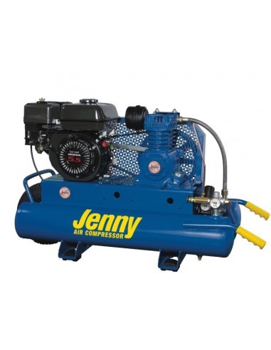 Air Compressors, Jenny Single Stage Wheeled Portable, Electric Motor, 8 gal.