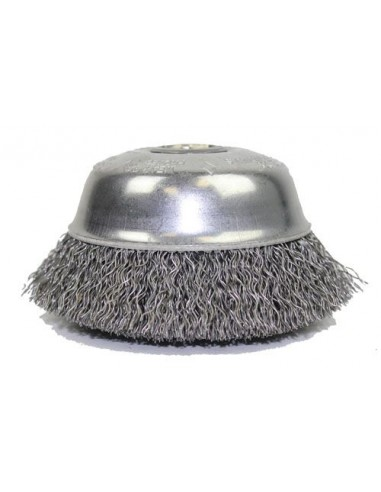 """Crimped Wire Cup Brushes for steel 6""""..."""