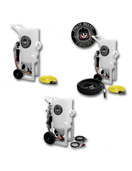 Abrasive Blast Pot (PRESSURE RELEASE) 1.5 - 6.5 CU FT - Pneumatic Controls